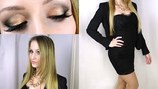 GET READY WITH ME  | Makeup, Hair, Outfit | Weihnachtsfeier