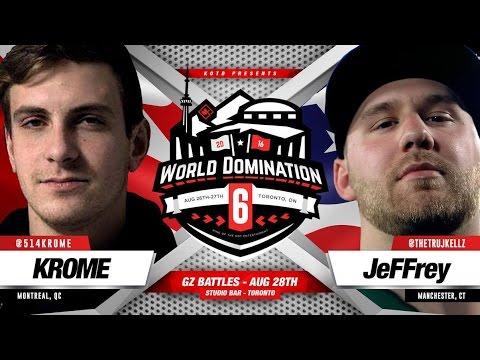 KOTD - Rap Battle - JeFFrey vs Krome | #WD6ix