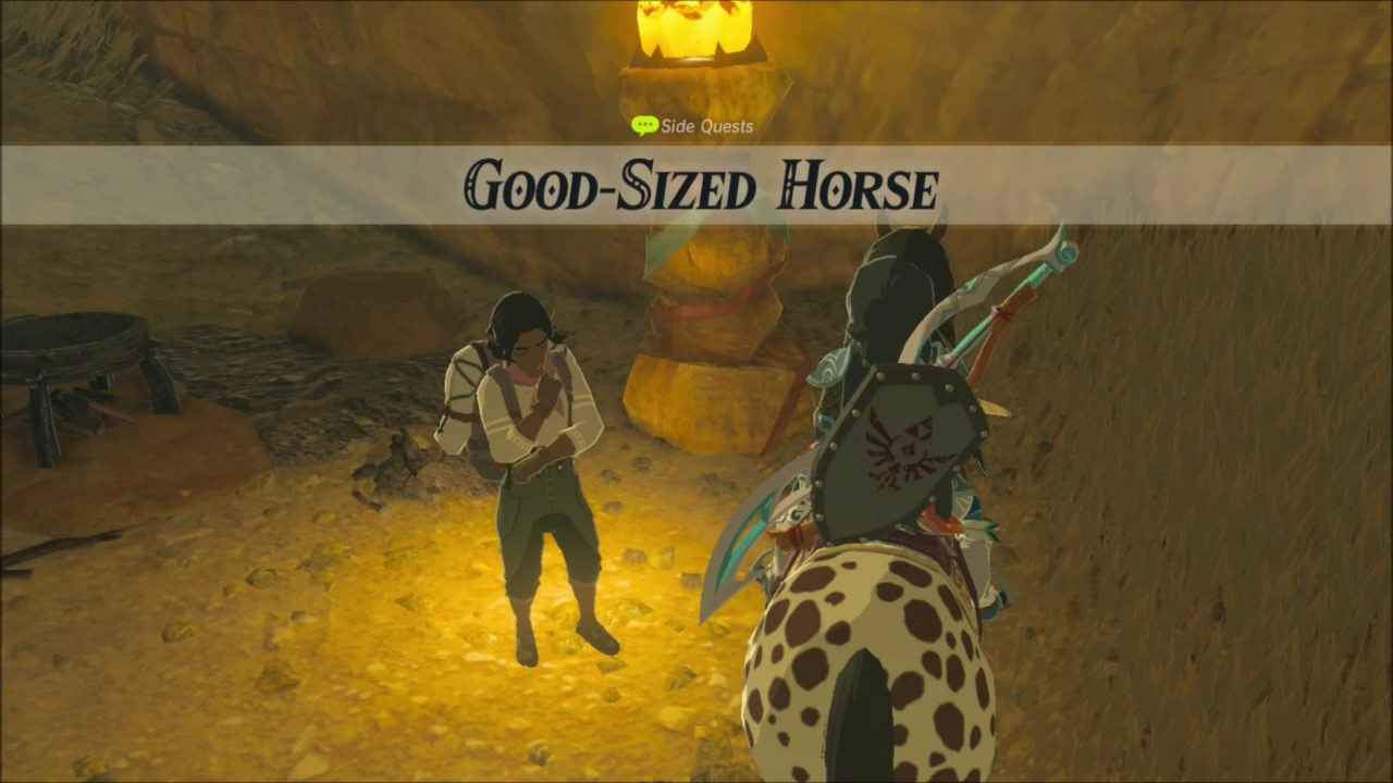 Zelda Breath Of The Wild Good Sized Horse Side Quest
