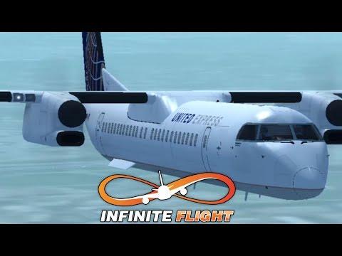 Infinite Flight | Bombardier Dash-8 Q400 United Airlines Short Flight