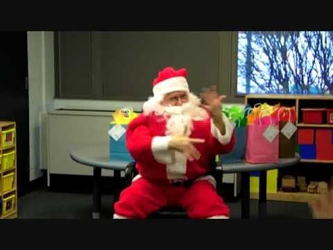 Santa Visits the Early Childhood Center at Rochester School for the Deaf