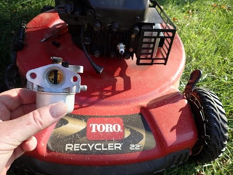Toro Recycler Lawn Mower Model 20334 - DIY Carburetor Repair Not  Running Correctly - Nov. 11, 2016