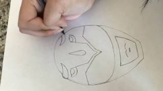 How to draw the blue ranger