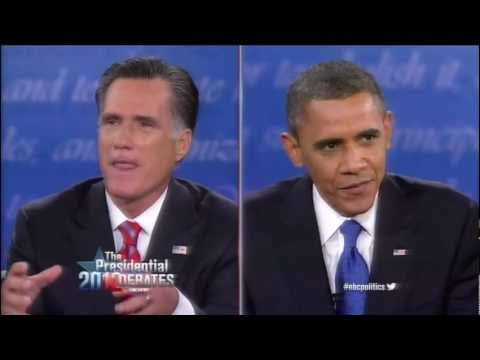 Romney Tries To Defend Previous Stance on Auto Industry to go Bankrupt (2012 Presidential Debate 3)