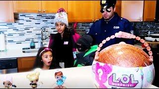 الشرطية دخلت هيكل اض أكبر مفآجأت لول سبرايز لعبة لول سبرايز LOl doll Heidi & Zidane قصص الأسرة