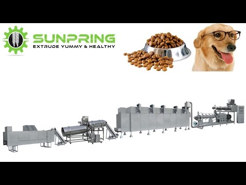 Pet/dog/cat food production extruder machine for sale | SunPring®