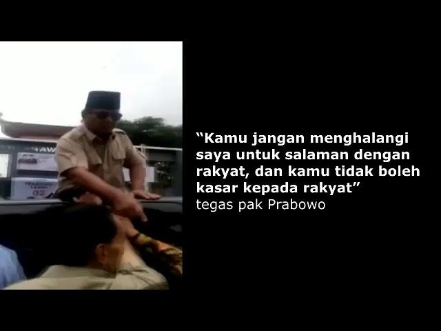 Prabowo Marahi Anak Buah dari  Atas Mobil