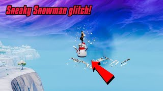 New SNEAKY SNOWMAN glitch in Fortnite (Insane glitch) Fortnite Glitches Season 7 PS4/Xbox 2019