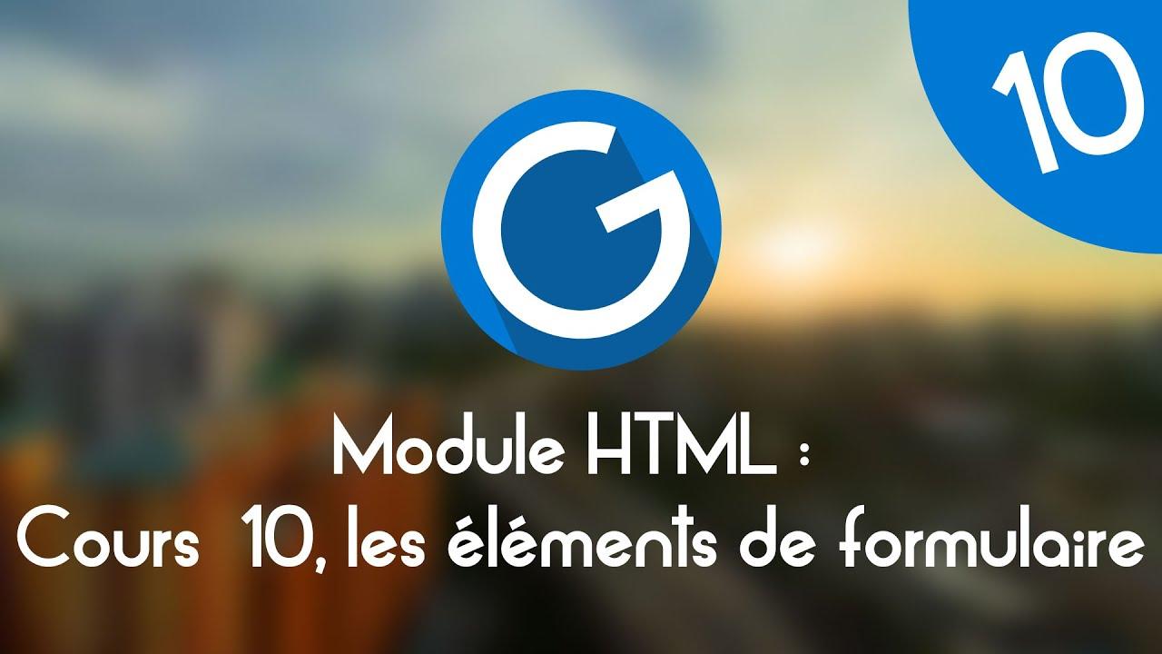 Download Formation IMM - Module HTML : Cours tuto 10 , les éléments de formulaire