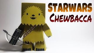 Star Wars Chewbacca Paper Crafts tutorial !