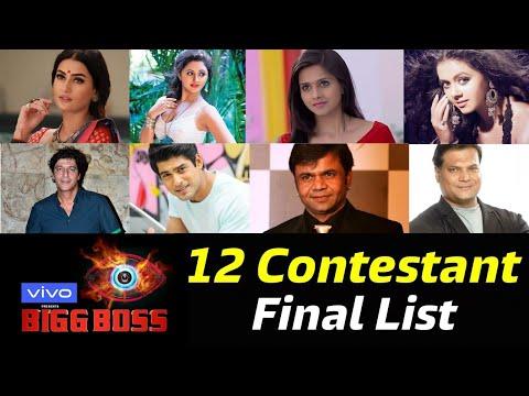 Bigg Boss 13 12 Confirmed Contestants Final List Out