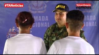 Tres integrandes del frente 57 de las Farc se desmovilizaron en Riosucio, Chocó