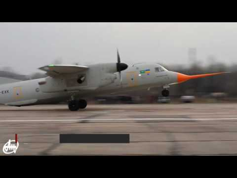 Ukraine's newest An-132D transport aircraft awaits its maiden flight