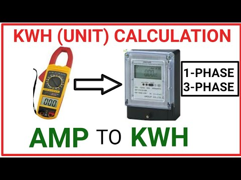 Download HOW TO CALCULATE KWH(UNIT)!Amp to kwh! amp to kw