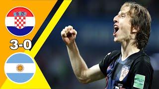 فضـ ـيحة كروية  كرواتيا ~ الأرجنتين 3 0 كأس العالم 2018 وجنون رؤوف خليف جودة عالية 1080i