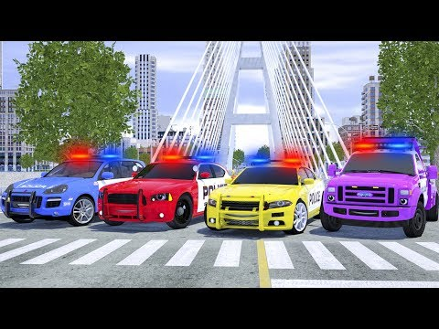 Meet New Police Cars Sergeant Lucas - Wheel City Heroes (WCH) - Fire Truck Cartoon for Kids