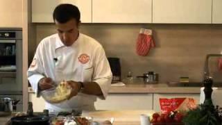 Филе грудки с картофельными драниками и грибами