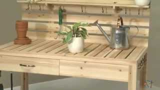 Simply Grow Cedar Potting Bench - Product Review Video