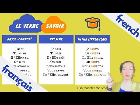 Conjuguer Le Verbe Savoir En Francais Youtube
