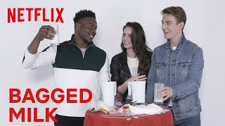 Bagged Milk?? with the Spinning Out Cast | Netflix