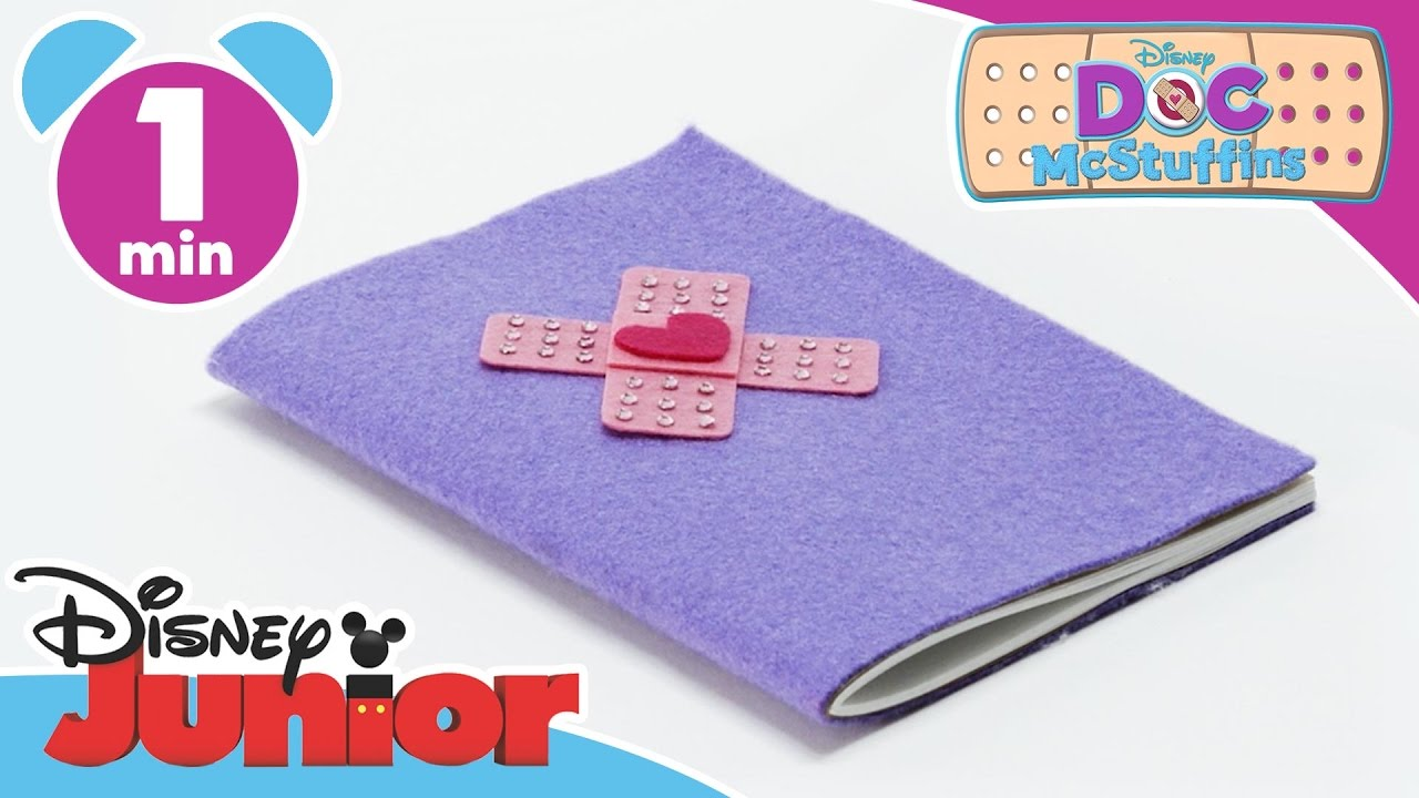 Doc McStuffins   Craft Tutorial: Doc's Big Book Of Boo Boos   Disney Junior  UK
