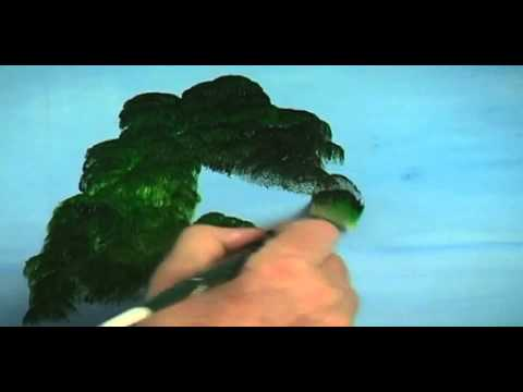 Acrylic Students;  Learn How To Paint A Weeping Willow Tree in Acrylics