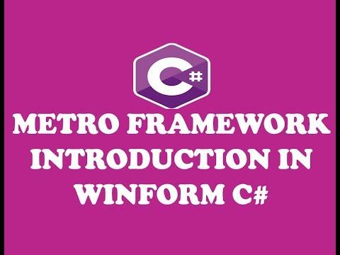 C Tutorial 1 Download And Install Modern Ui Metro Framework In Urdu