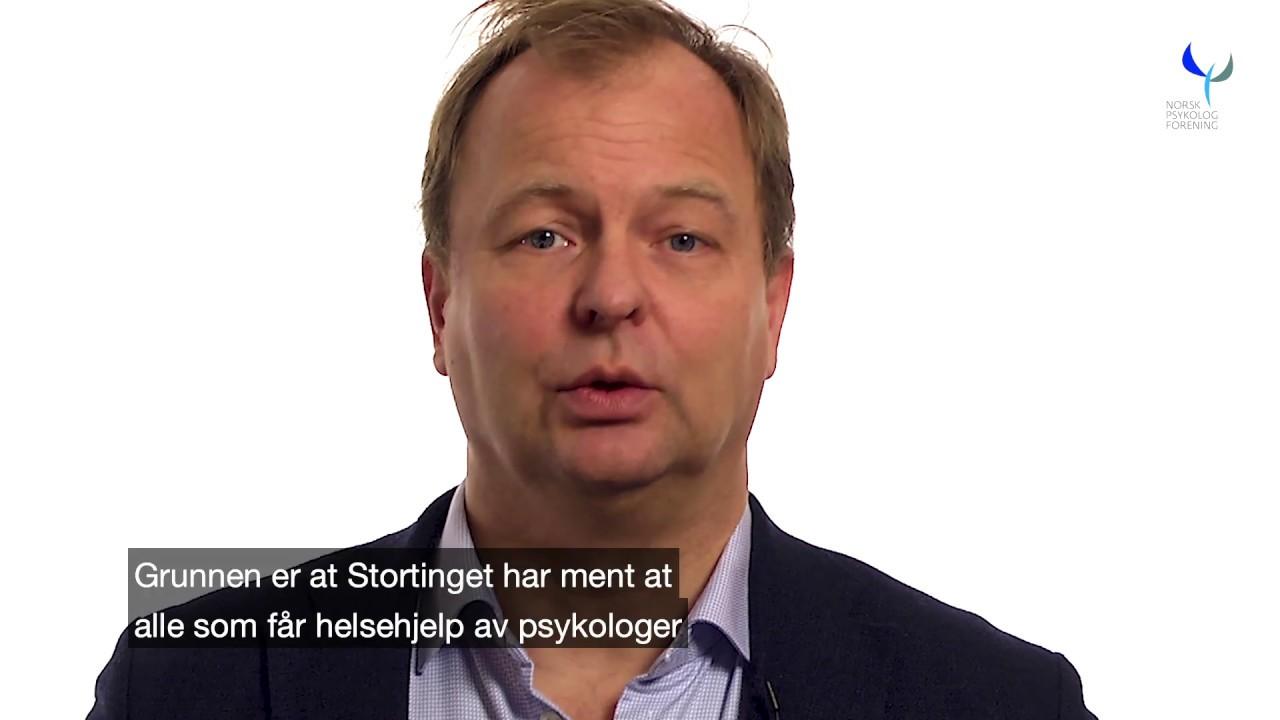 Forhandlingssjef i Psykologforeningen, advokat Christian Zimmermann,  om helsehjelp
