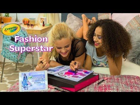 NEW Crayola Fashion Superstar || Crayola Product Demo
