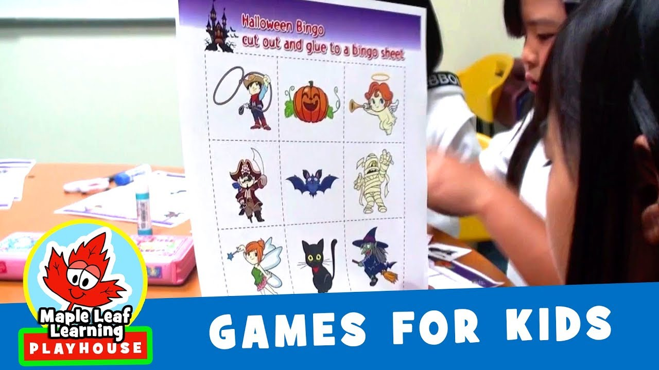 halloween bingo game for kids maple leaf learning playhouse