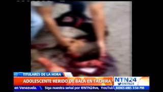 Joven estudiante de Táchira habría sido asesinado 'a quemarropa' por uniformado del PNB