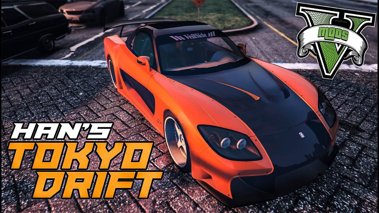 Gta 5 Car Mods  Tokyo Drift Mazda Rx7  Grand Theft Auto V