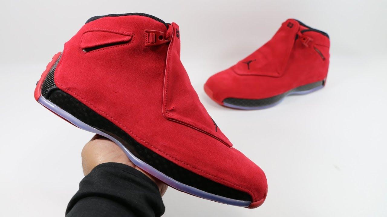 2cad412b46584f The Air Jordan 18 XVIII Red Suede