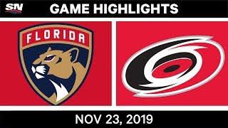 NHL Highlights   Panthers vs. Hurricanes – Nov. 23, 2019