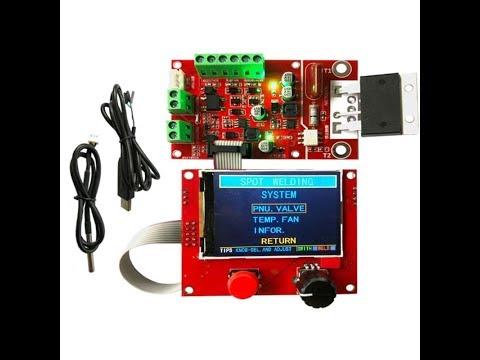 Контроллер точечной сварки  с управлением пнематики, контролем температуры и включением вентилятора.
