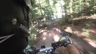 A suspension abusing ride for a klr