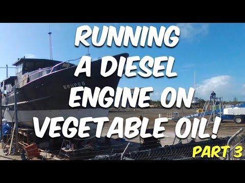 RUNNING A DIESEL ON VEGETABLE OIL (Part 3 Tank Preparation) Steel Boat Adventures BRUPEG (Ep. 39)