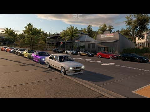 Forza Horizon 3 | BMW vs Mercedes Meet w/ E34, C63, M6, SLS