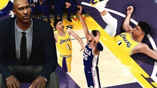 NBA 2K19 MyCAREER LaMelo Ball #16 - LAVAR BALL COACHES LAKERS! Melo Turns up W/ 110 CONTACT DUNK