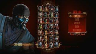 Mortal Kombat 9 - Expert Arcade Ladder (Sub Zero3 RoundsNo Losses)