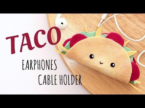 Diy Taco Earphones Holder  No Sewing Tutorial