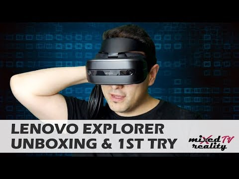 Lenovo Explorer Windows Mixed Reality Headset Unboxing - First Contact!