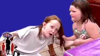 Young Girl Pulls Older Sisters Hair At The Dinner Table - Supernanny US