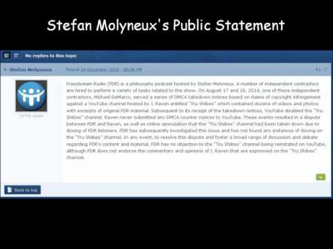 Stefan Molyneux's Public Statement Regarding DMCA and Doxing Allegations