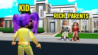 RICH PARENTS Adopted Me.. But They Made Me Become A GOLD DIGGER! (Roblox Bloxburg)