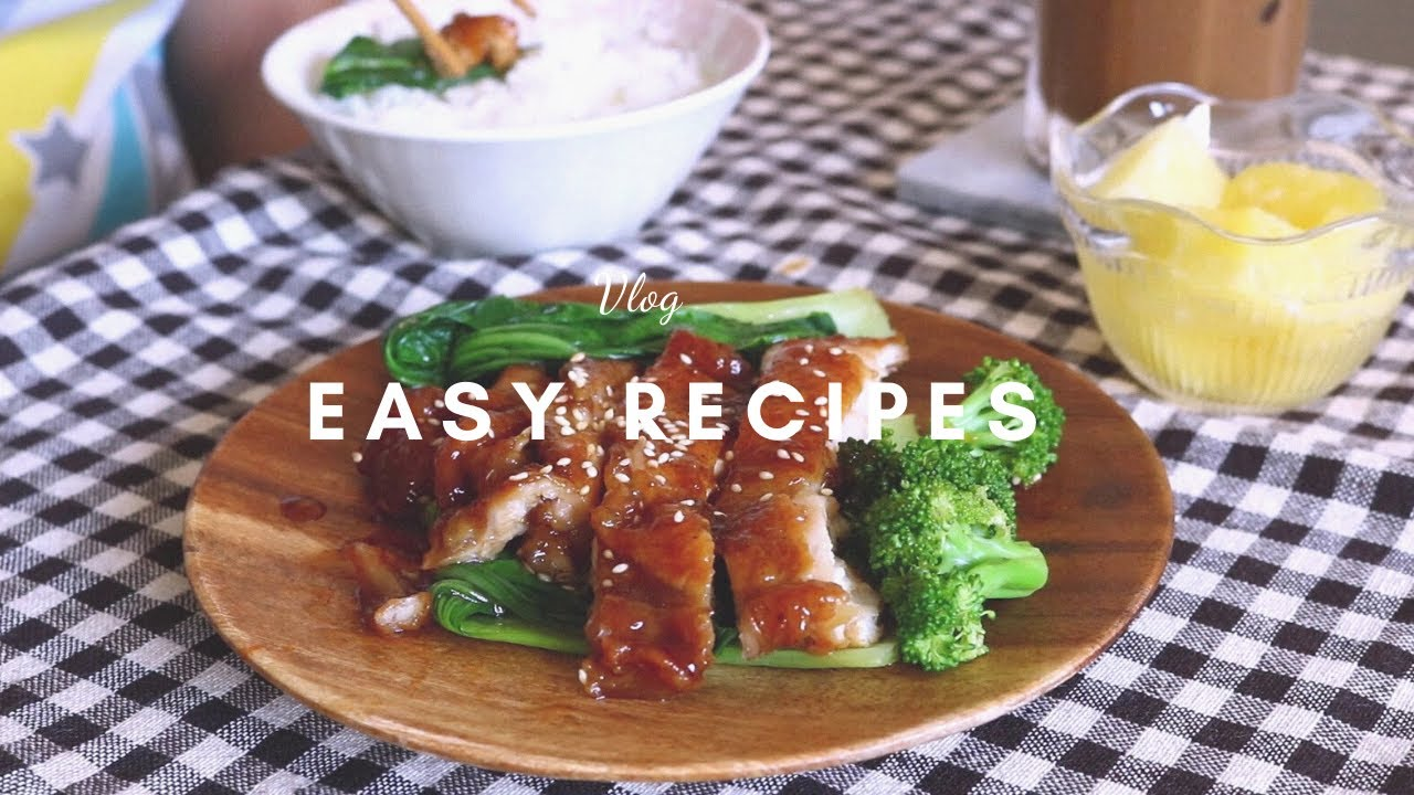 Trying Easy Japanese Recipes (Chicken Teriyaki, Karaage, and Chicken and Egg Rice Bowl)