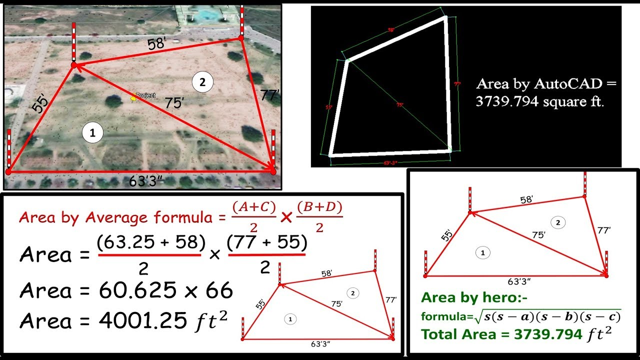 How to calculate land area? #AREA-CALCULATION