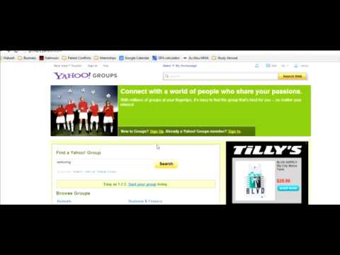 How to use Yahoo Groups for Venturing Purposes