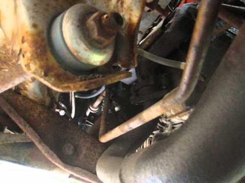 1991 Dodge RAM B250 Roadtrek - 318 - Removing left engine ...
