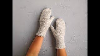 мастер класс: Учимся вязать варежки спицами / How to knitt a mittens
